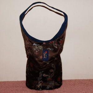 Gem oriental dragon & peacock embroidered bag